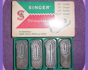 SINGER Sewing Machine TEMPLATES Buttonholer 16056, 160743, 489500, 489510 Set 4