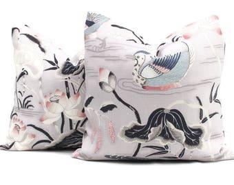 Lilac Lotus Garden Decorative Pillow Cover 18x18, 20x20, 22x22, 24x24, Eurosham or Lumbar Pillow, Lily pad pillow, throw pillow, toss pillow