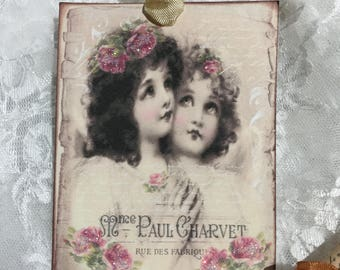 XL Vintage Angel Gift Tag Set, Stationery, Notecards, Journaling, Scrapbooking, Party Favors, Gift Items