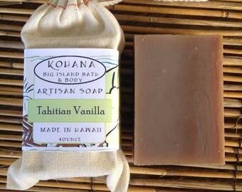 Tahitian Vanilla Artisan Soap 4 oz. Organic Ingredients