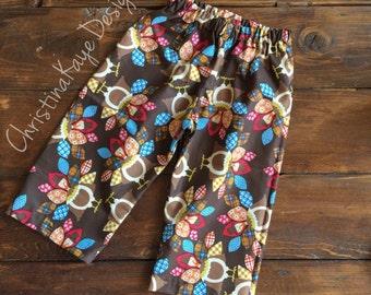 2T ready to ship Thanksgiving turkey pajama pants SALE MARKDOWN
