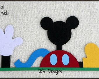 Die Cut Disney Mickey Mouse CLUBHOUSE Premade Paper Piecing Embellishment for Card Making Scrapbook or Paper Crafts