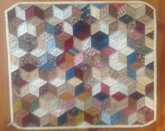 Reproduction of an antique Baby Blocks Doll quilt/Wall hanging