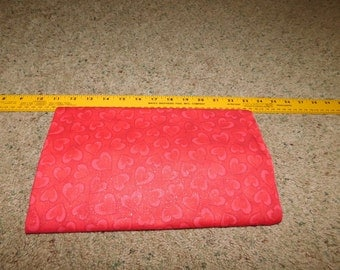 Red Hearts  Fabric  1 yard and 5 inches  Sewing Quilting Crafting  Sale Destash Stock Up