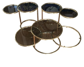 Design Institute of America Coffee table and sidetables. Interior Design. Circles