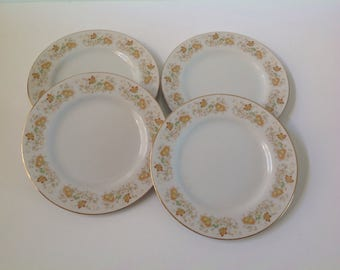 Happy Home Spring Garden  Fine China Salad Plates, China Bread Plates, Dessert Plates, Spring Garden China Plates