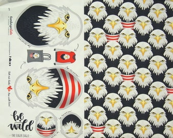 BE WILD Eager Eagle cotton jersey