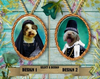 Lagotto Romagnolo Jewelry. Lagotto  Pendant or Brooch. Lagotto Necklace. Lagotto  Portrait. Custom Dog Jewelry.Handmade Jewelry