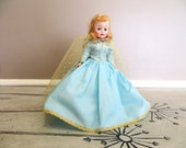 Madame Alexander Sleeping Beauty Doll Vintage Cissette 1959 Disney Princess Dolls Blue and Gold Dress Collectible Doll