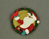 Santa with a Cardinal 2016 Limited Edition Polymer Clay Christmas Ornament