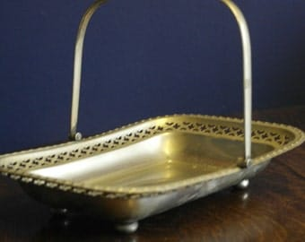 antique silver plate bread basket fruit bowl