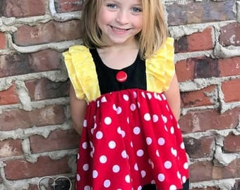 Girls Toddler Disney Inspirational Minnie Mouse Clara Flutter TUNIC TOP ONLY  9 12 18 24 2T 3T 4T 5T 6 6x 7 8 10 12