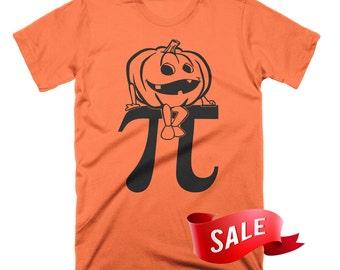 MEDIUM ON SALE - Pumpkin Pi T-Shirt Funny Math Shirts Funny Pumpkin TShirt Funny Halloween Tees Gifts For Teachers Tee Shirts