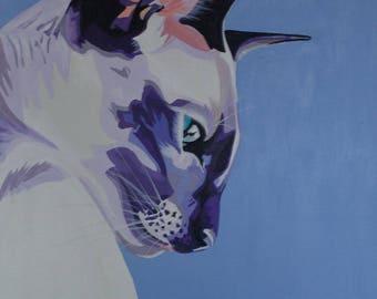 """Siamese Cat Profile 20x24"""""""