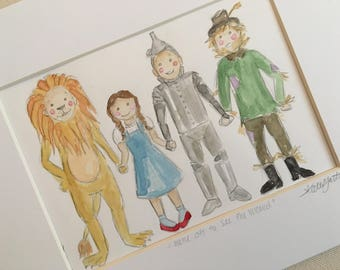 The Wizard of Oz Watercolor Print