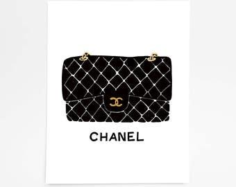 Chanel Bag - Art Print - 8 x 10