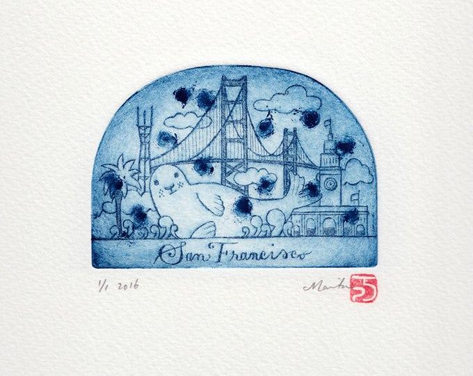 San Francisco Snowdome print