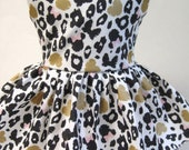 Minnie Mouse Leopard in Champagne Metallic, Sleeveless Dress for your 18 Inch Doll