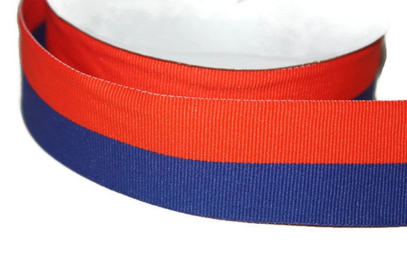 wide orange and blue belt mens orange and royal blue striped