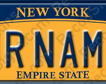 """Custom Bicycle/Mini 2010 New York Aluminum License Plate 6"""" wide x 3"""" high Made in USA by US Vets"""