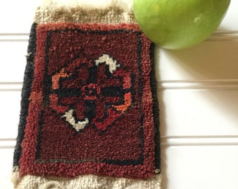 Oriental Carpet Coaster - Kilim Coaster - Dollhouse Rug - Miniature Area Rug - Mini Area Rug