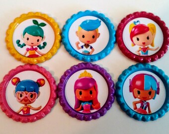 movie video game inspired bottle cap party favor keychain necklace barbie