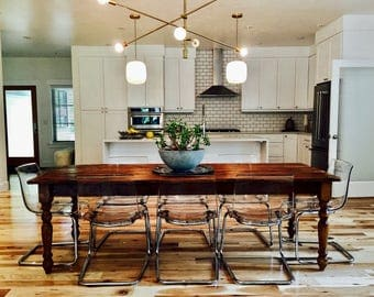 6 Foot Family Farm Table - Handmade with Reclaimed Wood by Arcadian Cottage- Beat the Heat Free shipping!