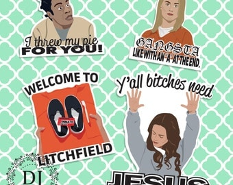 Orange is the New Black Magnet Set