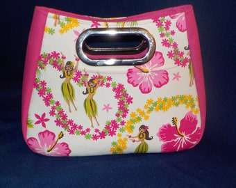 Pretty in Pink, Large Cutout Handle, Swoon Patterns, 80% Sized Ethel Bag