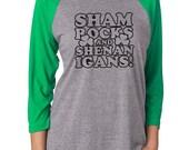 St Patricks, Shamrocks Next level apparel, raglan tee, - Shamrocks & Shenanigans