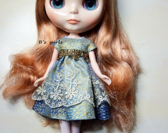Blythe Party dress with lace