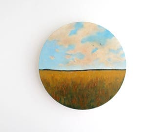 Field Circle Oil Painting