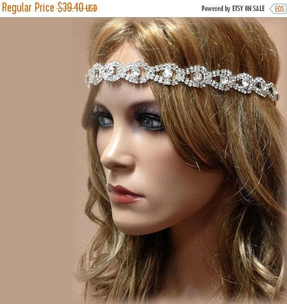 Wedding Hair With Rhinestone Headband : Bridal hair accessory headband rhinestone by