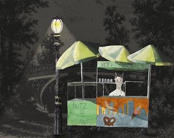 Central Park Food Cart - Reginald - Archival Prints