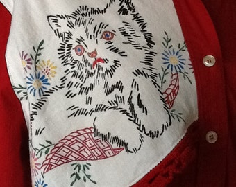 Grumpy cat shirt wearable art upcycled red medium