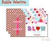 "Blow me away Valentine tags, Printable Valentine Tags, ""You Blow me away"" Valentine, Bubble Valentine tag"