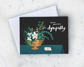 Sympathy Magnolias Greeting Card