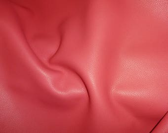 "Leather 8""x10"" BIKER CLASSIC CORAL top grain Cowhide 3.5 oz / 1.4 mm PeggySueAlso™  E2879-13 Full hides available"