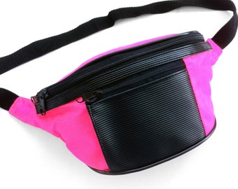 Rad 90s Neon Rubber Patch Accented Fanny Pack - 24 to 40