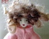 """felt doll number 342 """"Rosetta"""" french handmade doll"""