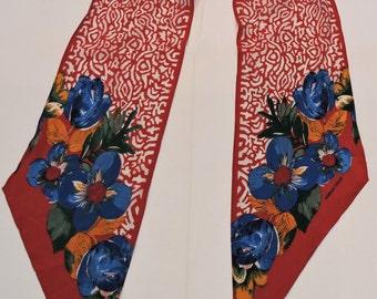 Vintage Silk Scarf by Morgan Taylor,Neck Wear,Accessory