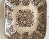 wh grindley & co. tunstall #39561/brown transferware/pin dish/ironstone/soap dish