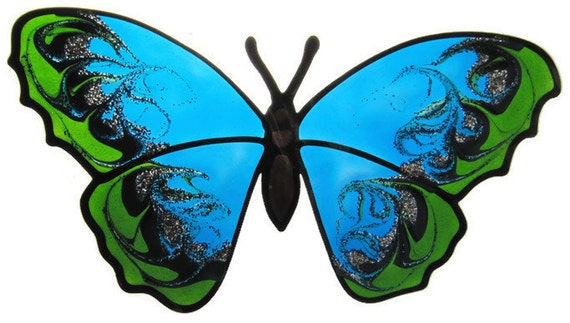 butterfly Suncatcher window sticker/decal stained glass style Sunshiner