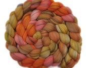 Hand dyed roving - 21.5μ Merino wool combed top spinning fiber - 4.0 ounces - Hay Loft 2
