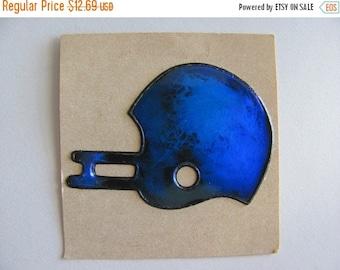 ON SALE Rare Vintage Liquid Oilie Football Helmet Sticker - 80's Oily Cobalt Cerulean Blue Teal Sports Toy Scrapbook
