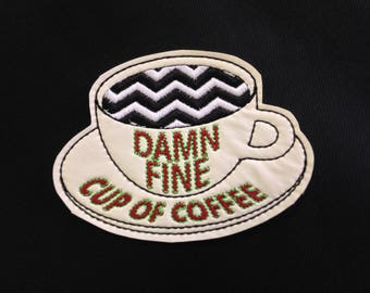 Twin Peaks Damn Fine Cup of Coffee Patch / Embroidered / Badge