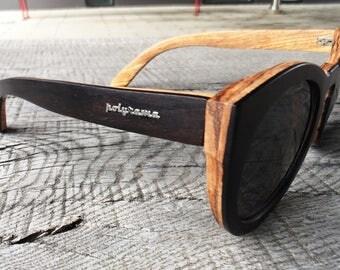 Polyrama Wood Cat Eye Sunglasses
