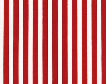 "Red 3/8"" Simple Stripes from Timeless Treasures"