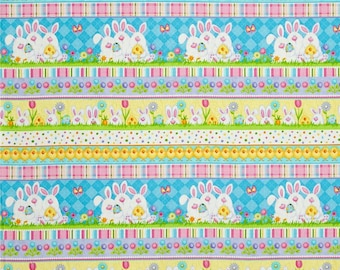 Easter Bunny Multi Stripes From Henry Glass's Hippity Hop Collection