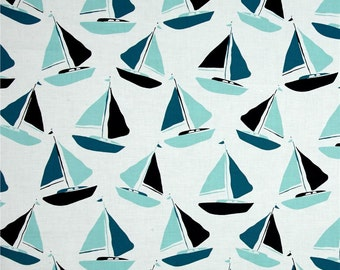 Blue Sailboats from Andover's Tides Collection By Jane Dixon